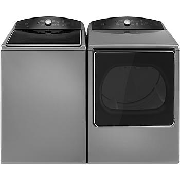 Kenmore 5.3 cu. ft. Top-Load Washer with a Triple Action Impeller & 8.8 cu. ft. Dryer - Metallic